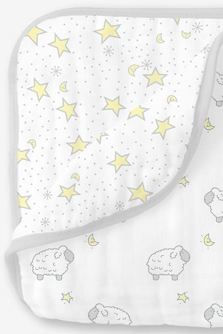 Одеяло муслиновое SwaddleDesigns, Little Lambs & Twinkle Sterling