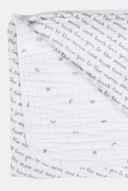 Муслиновое одеяло Bebe au Lait, Love and Luna