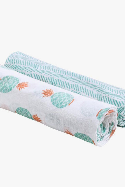 Пеленки для новорожденных из муслина Bébé au Lait, большие, Oahu/Zig-Zag