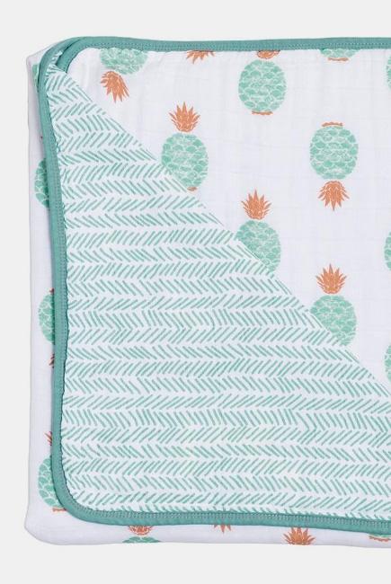 Муслиновое одеяло Bebe au Lait, цвет Oahu and Zig-Zag
