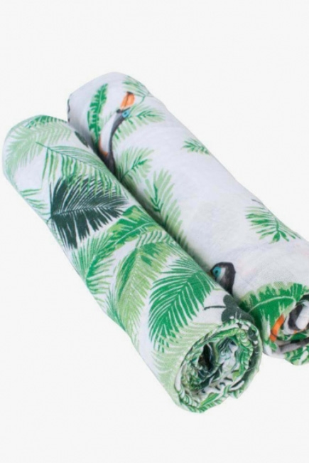 Пеленки муслиновые для новорожденных большие, Bébé au Lait Rio/Palms