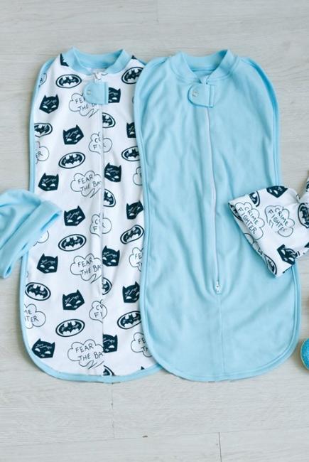 Комплект пеленок-коконов для новорожденных, Batman
