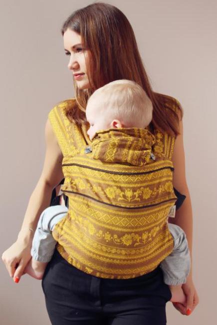 Эрго-рюкзак шарфовый с бамбуком Карауш растущий, Giraffe