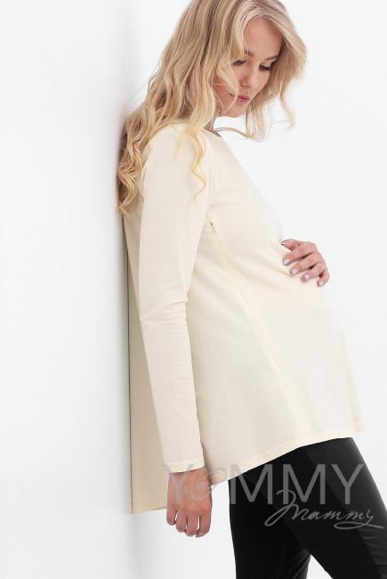 Туника для беременных и кормящих, цвет экрю