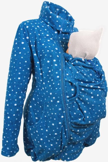 """Флисовая слингокуртка и куртка для беременных, """"млечный путь"""""""
