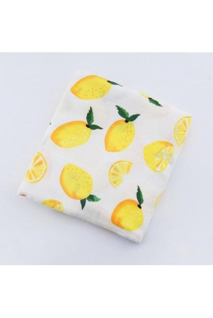 Муслиновая пеленка для новорожденных с бамбуком Diva большая, Lemon Bamboo