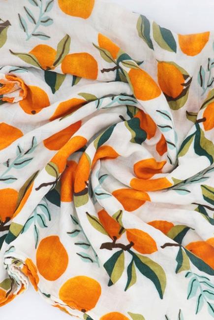 Муслиновая пеленка с бамбуком Diva большая, Orange