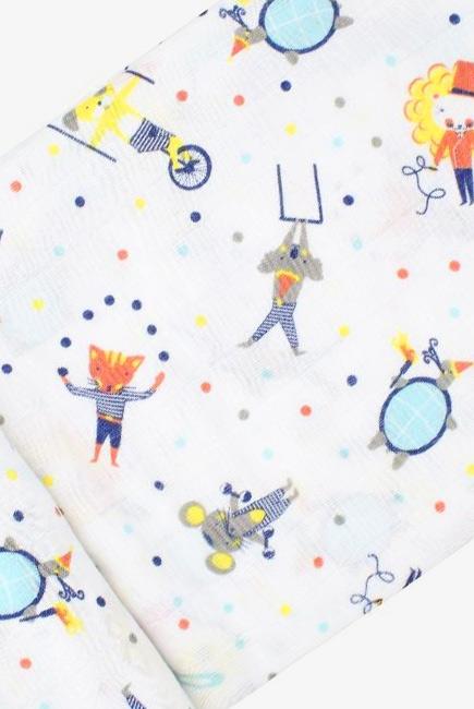 Муслиновая пеленка для новорожденных с бамбуком Diva большая, Circus