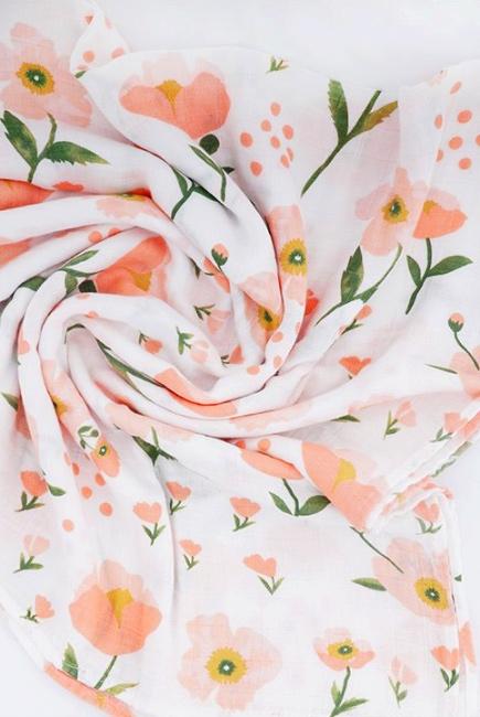 Муслиновая пеленка для новорожденных Diva большая, Flower Cotton