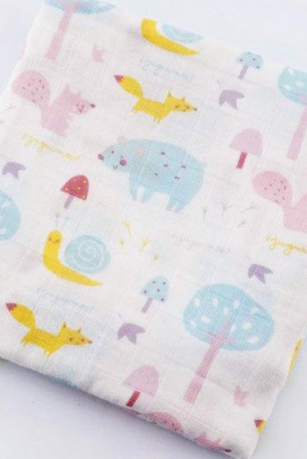 Муслиновая пеленка для новорожденных с бамбуком Diva большая, Forest