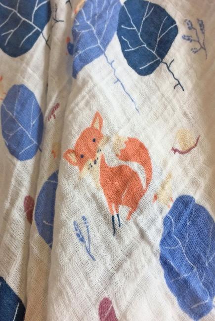 Муслиновая пеленка для новорожденных Diva большая, Fox Cotton