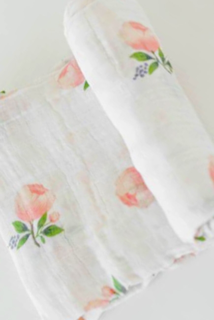 Муслиновая пеленка для новорожденных Diva большая, Rose Cotton