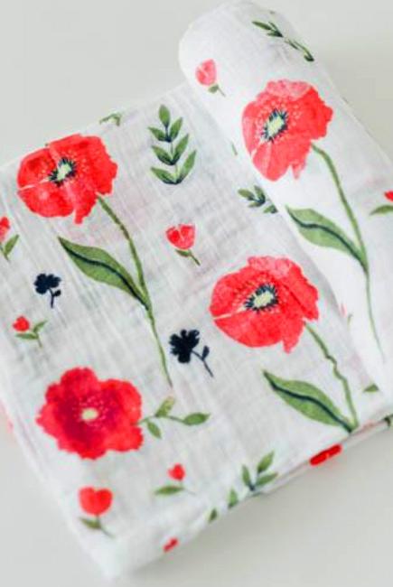 Муслиновая пеленка для новорожденных Diva большая, Poppy
