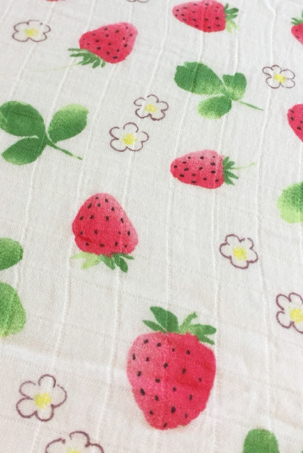 Муслиновая пеленка для новорожденных с бамбуком Diva большая, Strawberry