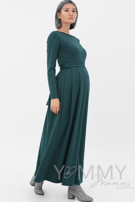 Платье для кормящих и беременных в пол, юбка со складками, ... d503eb0d221