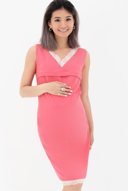 f196c84badf Платье для кормящих и беременных с кружевом