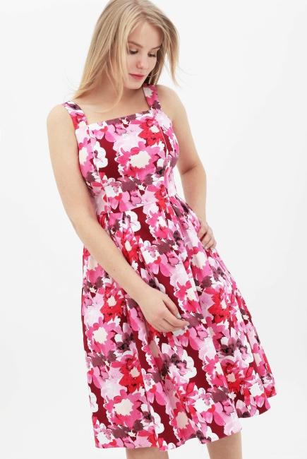 d1d0556ef14 Платье-сарафан для кормящих и беременных с цветочным принтом ...