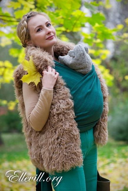 Слинг-шарф Ellevill Air William с шерстью мериноса