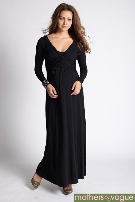 Платье Mothers en Vogue Wrap Dress Maxi, черный