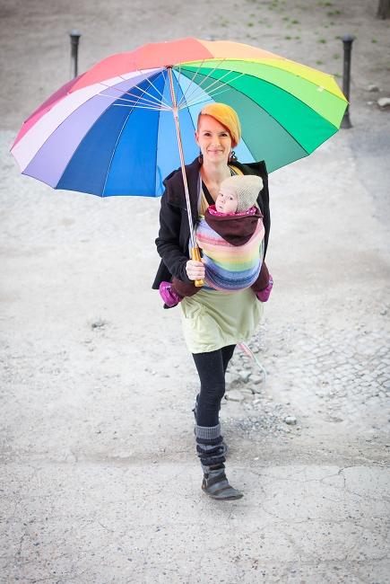 Слинг-шарф Ellevill Gaia Rainbow со льном
