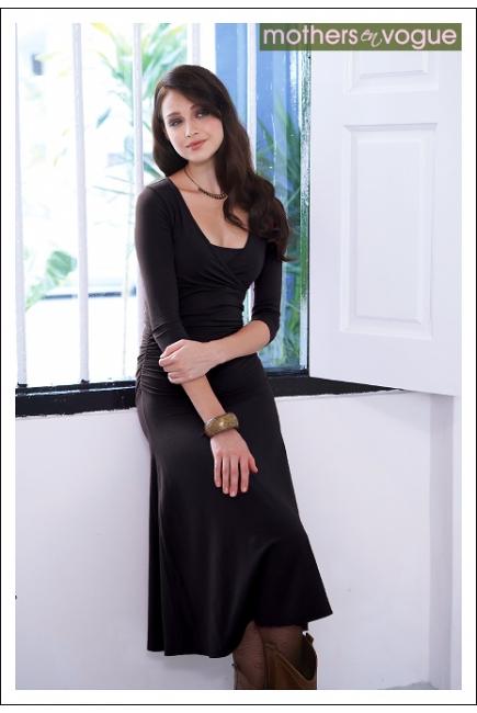"""Платье Mothers en Vogue """"Dana"""", рукав 3/4, цвет черный"""
