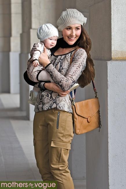 Топ для кормления Mothers en Vogue Printed Front-Zip Slouchy, змеиный принт