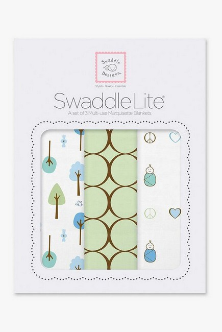 Набор пеленок SwaddleDesigns SwaddleLite Cute & Calm Kiwi