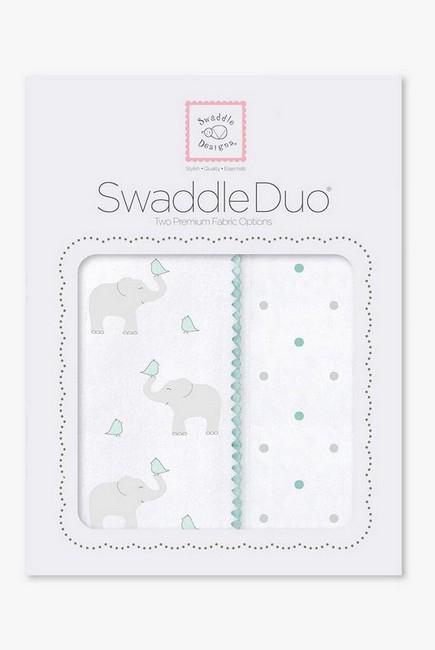 Набор пеленок SwaddleDesigns Swaddle Duo SC Elephant/Chickies