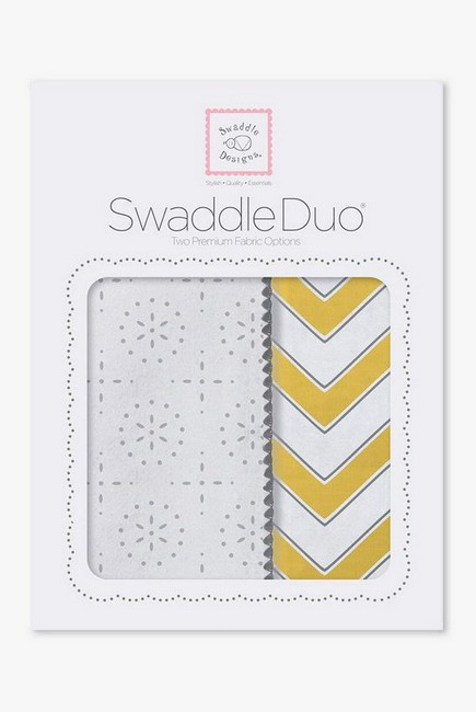 Набор пеленок SwaddleDesigns Swaddle Duo Yellow Chevrons