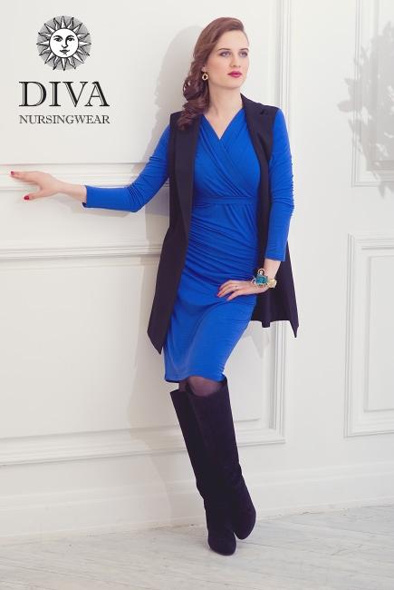 Платье для кормящих и беременных Diva Nursingwear Lucia, цвет Azzurro