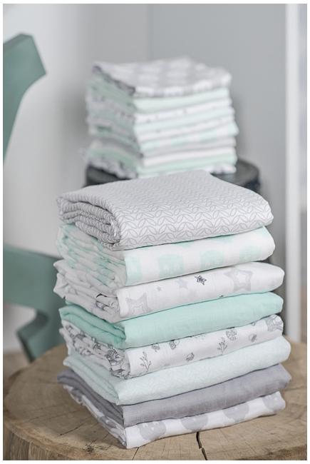 Муслиновые пеленки для новорожденных Jollein большие, Stardust (звездная пыль)