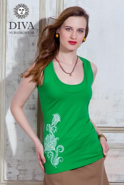 Топ для кормления Diva Nursingwear Eva Print, цвет Aloe