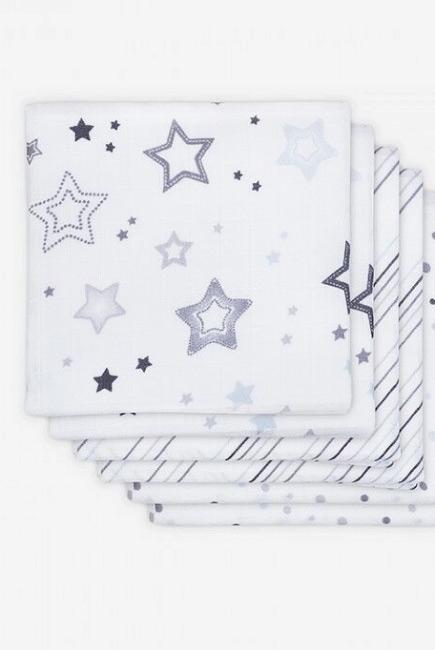 Муслиновые пеленки для новорожденных Jollein средние, Stardust grey, Звездная пыль