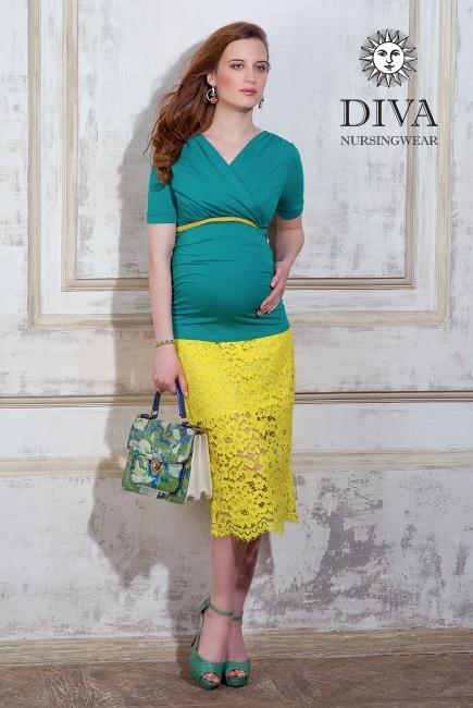 Топ для кормящих и беременных Diva Nursingwear Lucia, цвет Smeraldo