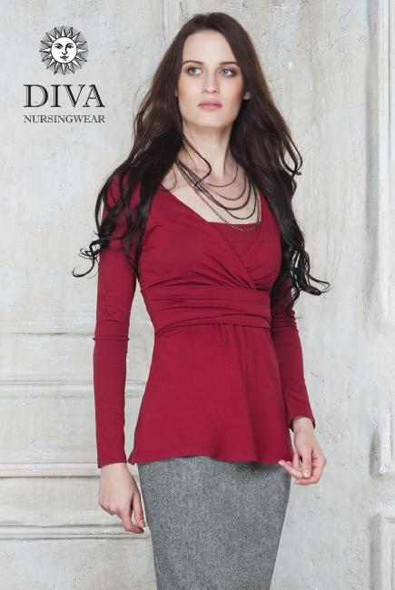 Топ для кормящих и беременных Diva Nursingwear Alba, цвет Berry