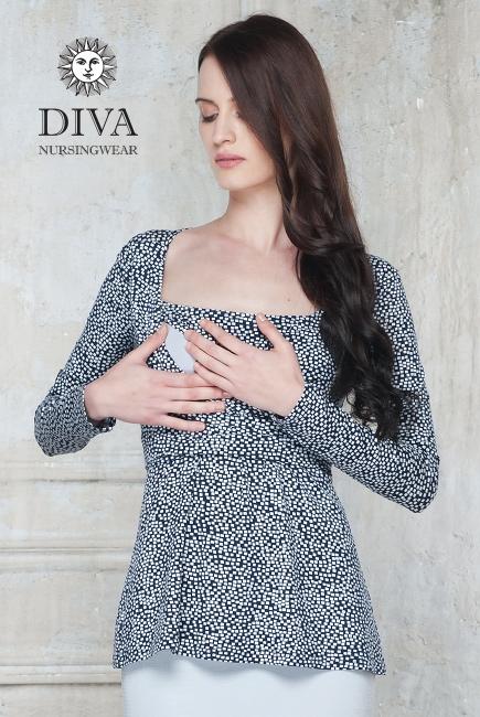 Топ для кормящих и беременных Diva Nursingwear Alba, принт Domino