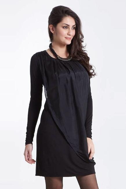 Платье для кормящих Mothers en Vogue Goddess Drape, черный