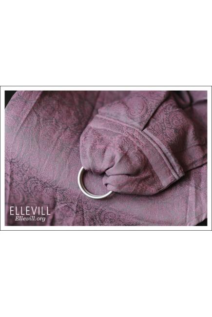 Слинг с кольцами Ellevill Paisley Silver-Pink