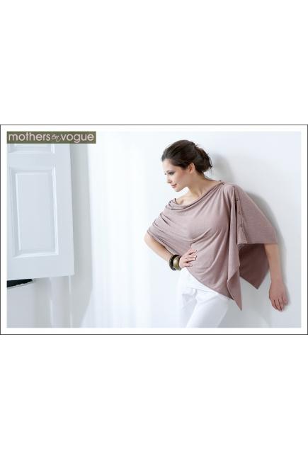 Пончо для кормления Mothers en Vogue из бамбука, цвет экрю