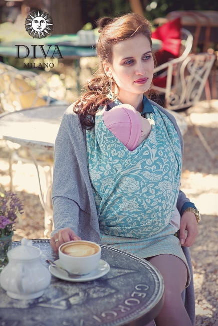Слинг-шарф Diva Milano, Rose Mare со льном