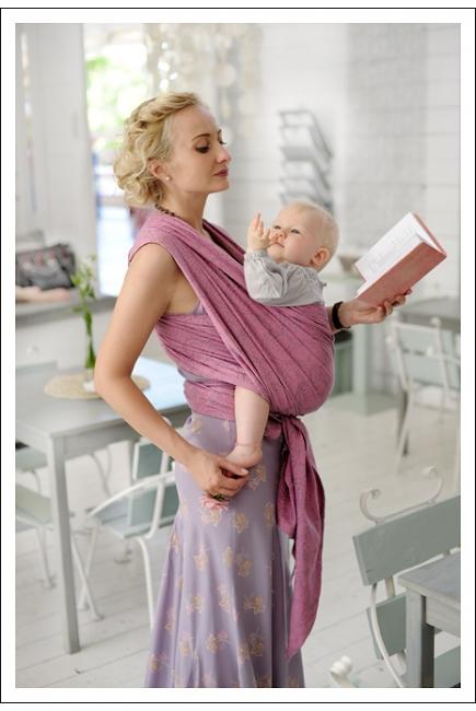 Слинг-шарф Ellevill Paisley Silver-Pink