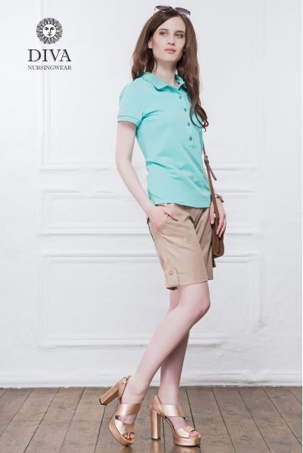 Топ для кормления Diva Nursingwear Polo, цвет Menta