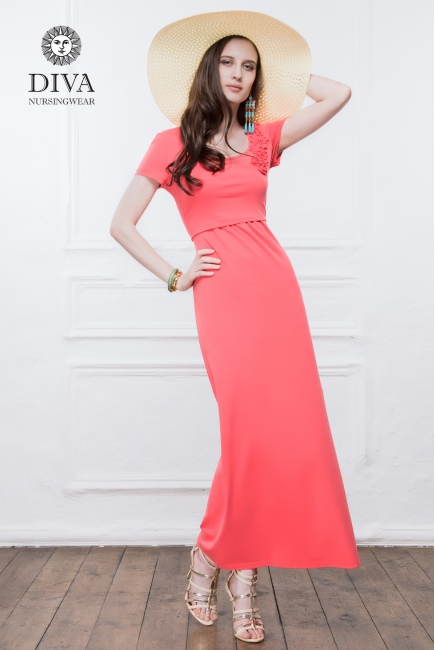 Платье для кормящих и беременных Diva Nursingwear Dalia, цвет Corallo