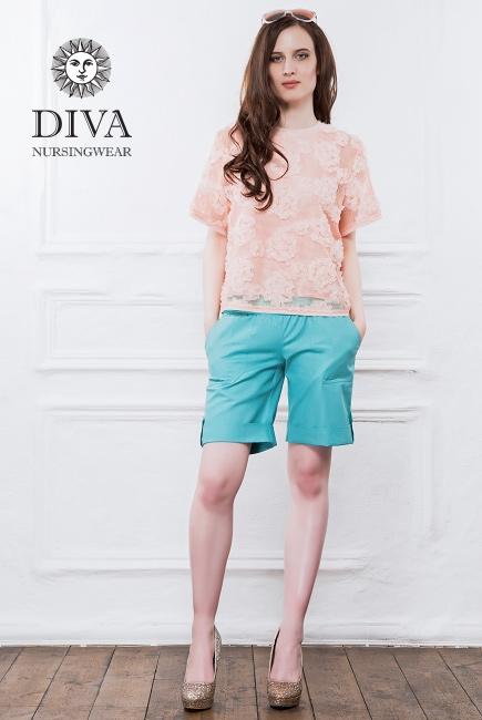 Шорты для беременных и родивших Diva Nursingwear Deborah, Menta