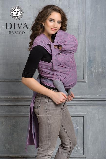 Май-слинг Diva Basico, Perla с капюшоном