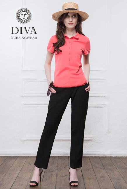 Топ для кормления Diva Nursingwear Polo, цвет Corallo