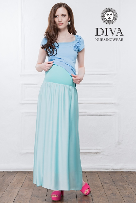 Юбка с шелком для беременных и родивших Diva Nursingwear Ines, Menta