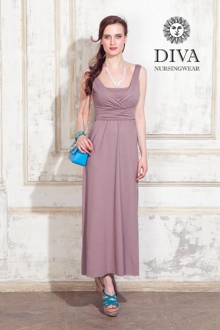Сарафан для кормящих и беременных Diva Nursingwear Alba Maxi, Cacao