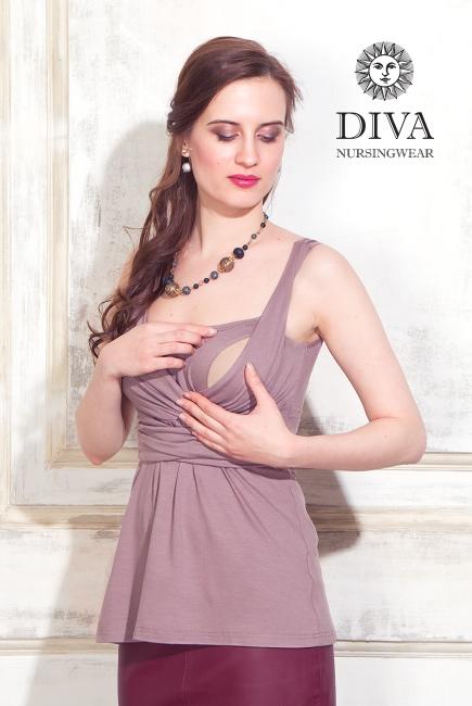 Топ для кормящих и беременных Diva Nursingwear Alba, Cacao