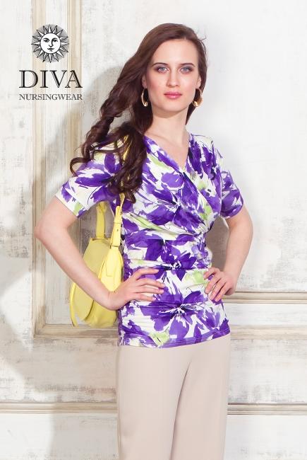Топ для кормящих и беременных Diva Nursingwear Lucia, принт Iris